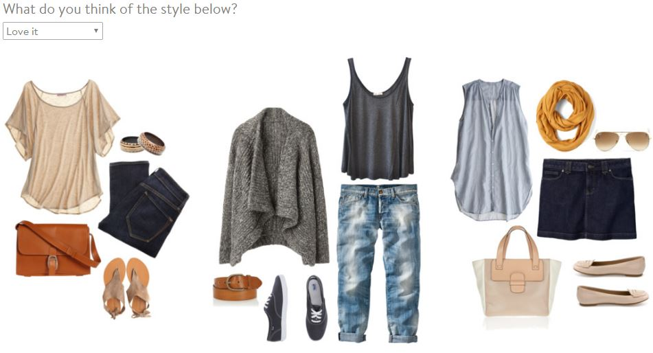 Stitch Fix Style Profile Fashion Grouping 3